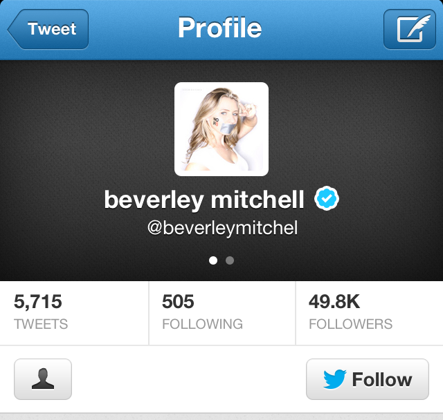 BEVERLEY MITCHELL OFFICIAL