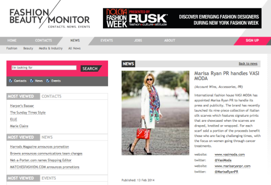 FASHION MONITOR VASI