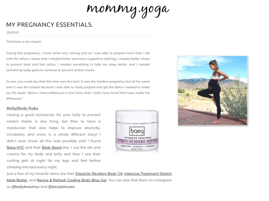 MOMMY YOGA BASQ BB.001